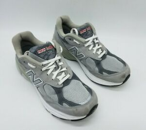 New Balance 990v3 Made in USA Women's Running Shoes Gray White W990GL3 Size 10