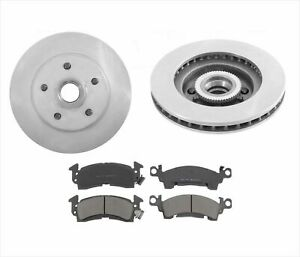 93-95 G10 20 Chevy GMC Van W/ Vacuum Booster Brakes ABS Front Rotors & Pads 3pc