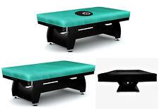 Pool Billiards Snooker Durable Table Cover Vinyl 5 6 7 8 9 10 12 ft Black, Green