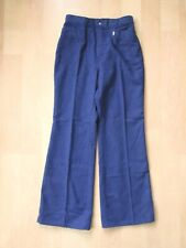 Vtg 1960's Levi's For Me washable wool flannel hippie wide leg flare pants 28W
