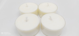 4-80pcs Hand Made Natural 100% Soy Soya Tealights Clear Cups Air Cleaner Candle