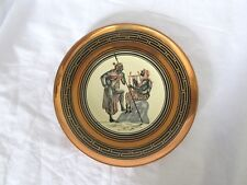 Collectible Handmade Decorative Metal Plate Wall Hanging Decor Made in Greece 7""