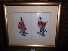4. Japanische Reispapier Malerei um 1900 Asiatika Japan