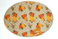 """Celebrate Fall Together Quilted Pumpkin Oval Placemat - Size: 13"""" x 18"""""""