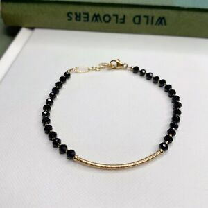 Onyx Gemstone 14K Gold Filled Handmade Sundance Garden Bracelet