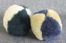 Plush PLAY BALL Natural Wool Merino Sheepskin toy kids pets Melon size USA made!