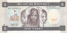 AU 1997 Eritrea 1 Nafka Note, Pick 1