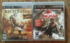 LOT OF 2 KINGDOMS OF AMALUR: RECKONING & DEAD ISLAND G.O.T.Y.E. (Sony PS3 2012)