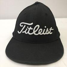 Titleist Golf Men's Black/White A-Flex Fitted Hat Size Sm/Md