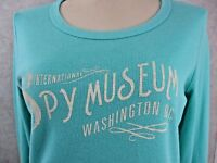BLUE 84 INTERNATIONAL SPY MUSEUM DC Aqua blue L/S top Junior SZ L 802-22-23