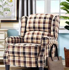 Wing Heated Massage Footrest Recline Armchair Swivel Fireside Lounge Chair