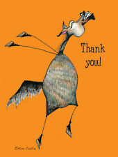 5-Pack Thank You Note Cards - Cartoon Horse