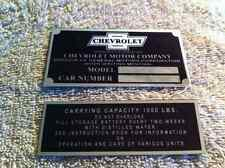 1/2 TON CHEVY TRUCK & CAP DASH PLAQUE ID 1933 1934 1935 1936 1937 1938 1939 1940