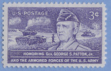 GENERAL GEORGE S PATTON US ARMY TANK ARMORED FORCES 1953 POSTAGE STAMP MNH