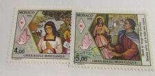 MONACO  Sc #1643-44 * MH , bird, religion, culture postage stamps, Fine +