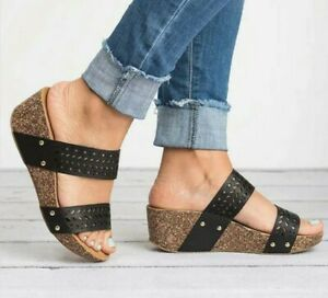 Dual Strap Wedge shoes