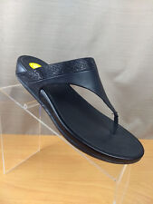 7072b0ed818f8b Fitflop Womens Flare Black Walking Toning Thong Embellished Sandal Shoes  EUR 41