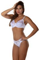 CARMEN ensemble de lingerie soutien-gorge et culotte coloris blanc 110D/XL