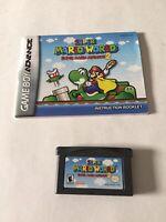Super Mario World Super Mario Advance 2 Nintendo Game Boy Advance Game & Booklet