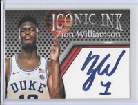 Zion Williamson Iconic Ink Facsimile Autograph Edition Duke Blue Devils