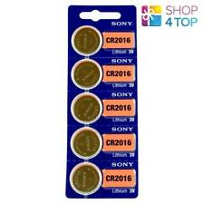 5 SONY CR2016 LITHIUM BATTERIES 3V 90 MAH CELL COIN BUTTON EXP 2028 NEW