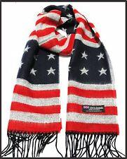 100% cashmere super soft unisex scarf neck warmer plaid designed American Flag