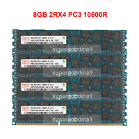 For Hynix 8GB 16GB 32GB 2Rx4 PC3-10600R DDR3-1333MHz ECC REG Registered Memory