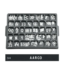 """3/4"""" WHITE CHANGEABLE SIGN PLASTIC LETTERS MENUBOARD"""