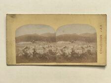 Suisse ville à identifier Collection J.A.B. Photo Stereo Vintage Albumine c1865