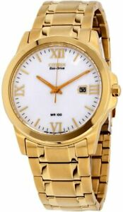 NEW Citizen Corso Eco-Drive Men's Gold-Tone Bracelet 40mm Watch BM7262-57A