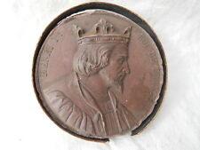 Rare Médaille en terre cuite  Caqué 1838 , Henri 1er Roi de France
