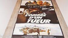 L'OMBRE D'UN TUEUR  ! yul brynner  affiche cinema