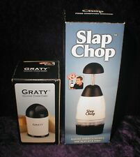 Slap Chop Food Chopping Machine with Graty Cheese Grater As Seen On TV - New