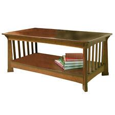 MILLER - Bois Table Basse avec Étagère Rangement - Acajou - OC2800
