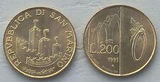 San MARINO 200 LIRE 1993 p300 unz