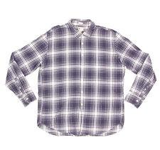 J. Crew Shirtings Blue White Plaid Tailored Fit Button Down Mens Shirt sz XXL