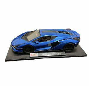 Maisto Lamborghini Sian FKP 37 Die Cast Car Model 1:18 Scale Kids Blue