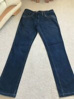 George Size 12 Standard Blue Denim Straight Leg Jeans Inside Leg 30-1/2 Inches