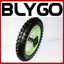 "GREEN 12mm Axle 3.00- 12"" Inch Rear Wheel Rim Knobby Tyre Tire PIT PRO Dirt Bike"