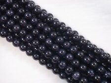 Gemstone Beads Blue Goldstone 8mm Round Beads 35cm Strand Jewellery FREE POSTAGE