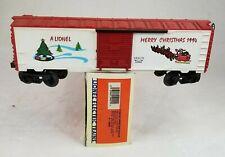 Lionel Trains O Gauge 6-19929 1994 Christmas Boxcar W/ Box, Santa & Sleigh White