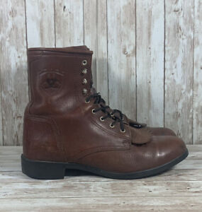 ARIAT Leather Western Paddock Boots A-2 Competitor Brown Lace Up Roper Size 9
