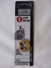 """MASTER MECHANIC Die 3/8"""" 24 NF Fine Thread Hex Die Titanium Coated 788572"""