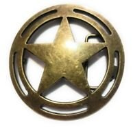 """♈ LARGE 4"""" Old West Star Belt Buckle COWBOY ♈ Marshall Sheriff Great Western USA"""