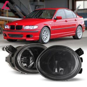 For BMW E46 01-06 Smoke Lens Pair Bumper Fog Light Lamp Replacement Bulb