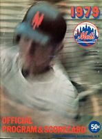 1979 New York Mets Official Program Signed By Dodgers' Doug Rau & Bob Welch