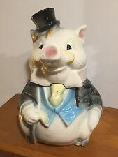 Vintage Brush McCoy Formal Tuxedo Pig Cookie Jar