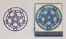 Celtic Pentacle w/Triplemoons rubber stamp Amazing Arts