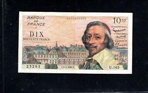 Billet 10 Nouveaux Francs Richelieu 02/02/61 TTB Fay 57-14
