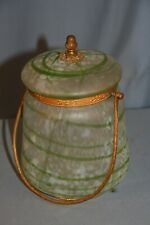 seau à biscuits 1900 art nouveau jugendstil glass